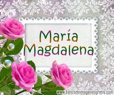 BANCO DE IMÁGENES: Postales con nombres de mujeres gratis para compartir