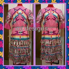 Super pretty Powwow Regalia, Jingle Dress, Native American Clothing, Ribbon Skirts, Native Style, Ribbon Work, Dance Dresses, Traditional Outfits, Beadwork