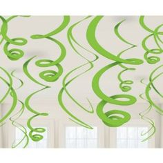 Amazon.com: Lime Green Plastic Swirl Decorations (12): Toys & Games