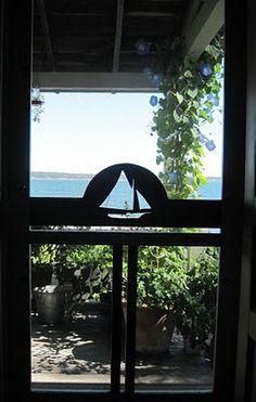 My favorite screen door from the Wooden Screen Door Company in Waldoboro, Maine.