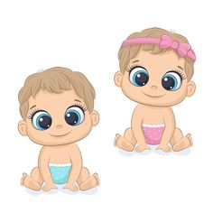 Clipart Baby, Baby Shower Clipart, Cute Baby Girl, Cute Babies, Boy Or Girl, Baby Boy, Boys And Girls, Dibujos Baby Shower, Imprimibles Baby Shower