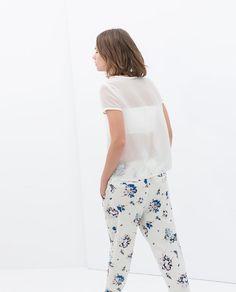 PANTALON FLUIDE de Zara