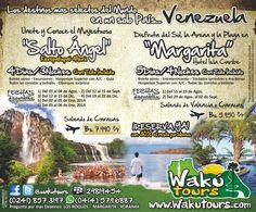 Super Promociones en Wakutours- Salto angel y Margarita con wakutours.com  Mas Info: www.wakutours.com/contacto.php
