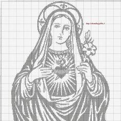 Haft Krzyżykowy MONOCHROMATYCZNY - Madona1.jpg