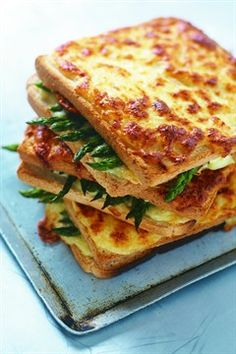 Toasted Goat Cheese, Asparagus and Sundried Tomatoe Croque Monsieur