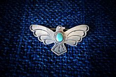 Vintage Fred Harvey Era Sterling Silver Thunderbird Pin with Turquoise Stone and Stamped Arrows by MorningstarVTG on Etsy https://www.etsy.com/listing/229918130/vintage-fred-harvey-era-sterling-silver