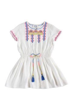 """Dress DAYTONA White - Bonheur du Jour Prachtige witte jurk met boho details van het Franse merkje Bonheur du Jour. Deze jurk """"DAYTONA White"""" is onze favoriete j"""
