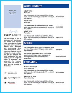 Word Doent Resume Template | Free Word Based Resume Templates Do What You Love Pinterest
