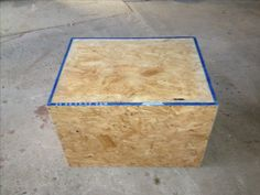 "DIY poly box for CrossFit. Easy to ""build"", cheap, and great for at home CrossFit workouts!"