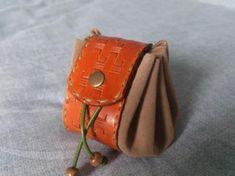 Monedero bolsa de judas de cuero - artesanum com