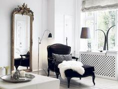 Black velvet chaise...