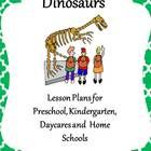 38 Pages of new and creative ideas for a Dinosaur theme for a daycare, preschool, kindergarten or home school.