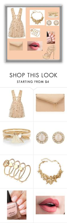 """""""pink"""" by elmat ❤ liked on Polyvore featuring Valentino, Henri Bendel, River Island, Kate Spade and Oscar de la Renta"""