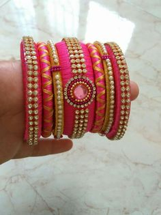 Silk thread jewels