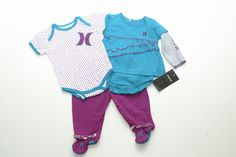 Hurley onesie baby girl outfit