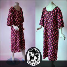 New Dress - Vintage 1960s Flower Power Wool Jersey Trapeze Trumpet Sleeve Dress #vintage #dress  http://www.ebay.co.uk/itm/Vintage-1960s-Flower-Power-Wool-Jersey-Trapeze-Trumpet-Sleeve-Dress-UK16-/371560557193?ssPageName=STRK:MESE:IT