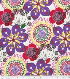 "45"" Home Essentials Print Fabric-Summer Spin Purple"