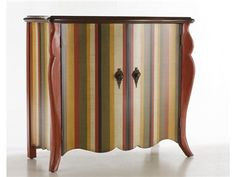 Shop for Hooker Furniture Outlet Retro Striped Accent Chest by Hooker Furniture, 1300-51017, and other Bedroom Chests and Dressers at Hickory Furniture Mart in Hickory, NC. From the Envisions collection by Hooker Furniture this retro striped chest features two doors with antique brass hardware and a fixed shelf ideal for storing small necessities and is a colorful addition to any room.