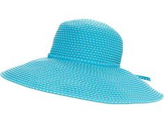 San Diego Hat Company RBL205 Ribbon Crusher Hat with Ticking Sun Hat - Traditional Hats : Turquoise : Enjoy the show at the outdoor amphitheater while wearing this darling San Diego Hat Company® Ribbon Braid Hat! Sun hat with ticking and tie at base of crown. Wide brim offers fashionable protection from the sun's rays. Interior logo sweatband offers cool comfort. 100% polyester. Spot clean only. Imported. Measurements: Circumference: 23 1 2 in Brim: 5 in Ribbon Braids, Interior Logo, Ticks, Sun Hats, San Diego, Base, Crown, Turquoise, Traditional