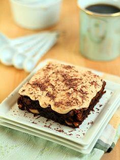 Brownies with a Bourbon Caramel Icing