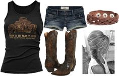 """""""Rockin on a Summer Saturday"""" by small-town-country-gurl on Polyvore"""