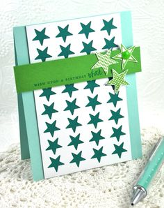 Birthday Star Card by Dawn McVey for Papertrey Ink (April 2014)