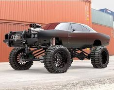 "Lifted Trucks Bigger Than Godzilla, They Are Cooler Than You Thought! If you' were to define the phrase ""truck"" in one word, what might it be? Jacked Up Trucks, Lifted Cars, 4x4 Trucks, Custom Trucks, Cool Trucks, Custom Cars, Cool Cars, Lifted Chevy, Lifted Jeeps"