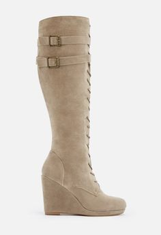 a3089cec07022 Nomi Heeled Boot in Taupe - Get great deals at JustFab Heeled Boots