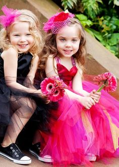 Love the shoes on these flower girls! Let the kids have fun at your wedding!