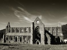 """Tintern Abbey, Wales  """"FIVE years have past;   five summers, with the length  Of five long winters! and again I hear  These waters, rolling from their mountain-springs...."""""""