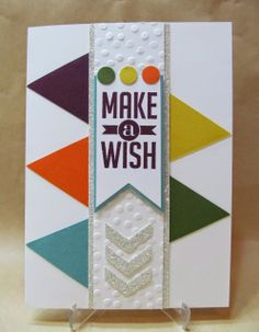 Stampin' Up! 2014-2016 In Color Card by Savvy Handmade Cards. Perfect Pennants stamp set for sentiment.