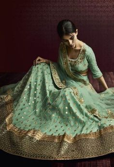 Product Code 5068 Weight 3 KGS Delivery Days 20 Days Pallu Pista Green Net Dupatta With Heavy Border With Hand Bootis Skirt Skirt With All Over Bootis Embroidered Blouse Blouse With Net Inner YES Occa