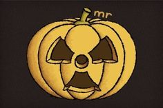 Radioactive Carved Pumpkin T-Shirt features a large image of a pumpkin that has a carving in it of the radioactive logo. A Pumpkin, Pumpkin Carving, Afraid Of The Dark, Bat Signal, Fun Projects, Superhero Logos, Scary, Vibrant Colors, Horror