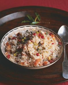 Pomegranate Pilaf, would be great to serve with lamb