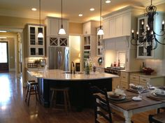 Kitchen Island Floor Plan how to create color flow throughout your home | open floor