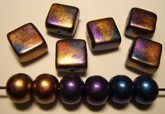 Raku Beads by polymerclaybeads, via Flickr