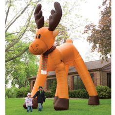 The Two Story Inflatable Reindeer - Hammacher Schlemmer    I need this for Christmas? Yes? My HOA can suck it.