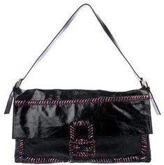 Fendi Maxi Whipstitch Baguette Vintage Bag, Rib Cage, Baguette, Antique Gold, Fendi, Shoulder Strap, Handbags, Leather, Totes
