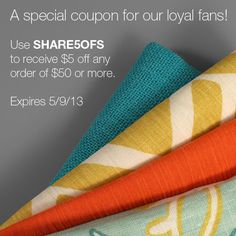 $5 Off Fabric Coupon Code at onlinefabricstore.net
