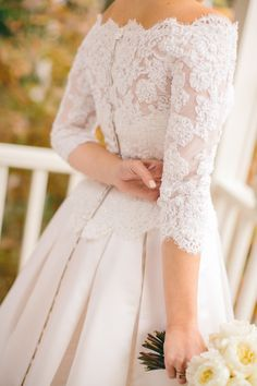 Lace sleeves - love!