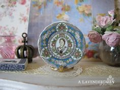 Queen Mother Caversalls 90th Birthday Plate for by ALavenderDilly
