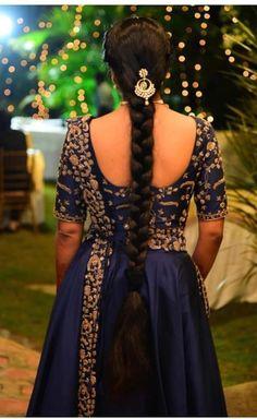 South Indian Wedding Hairstyles, Bridal Hairstyle Indian Wedding, Indian Hairstyles, Girl Hairstyles, Hairdos, Indian Long Hair Braid, Braids For Long Hair, Beautiful Braids, Beautiful Long Hair