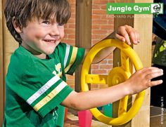 Fun wooden climbing frame accessories to steer through the whole garden with this steering wheel kit #PinToPlay