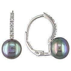 Black Pearl Diamond White Gold