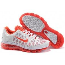 Womens Nike Air Max 2011 Mesh white/red running shoes for sale