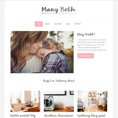 Wordpress Theme Mary Beth by Pictalo on Creative Market
