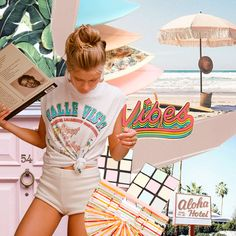 🌼 RETRO VIBES 🌼  All that's missing is the pastel roller skates... 🍭🍦🍡 Created by our clever graphic designers ✌🏼   #retro #goodvibes #collage #creative #design #artwork #digitaledit #vintage #40s #50s #rubixcube #surfboard #arnhem #palms #alohahotel #cultgaia #relaxed #chill #pastel #beach #tropical #vibes #digitalcollage #collage #digitalcollage #collageart #digitalart #stylecollages