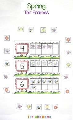 These spring ten frame counting cards make the perfect learning activity that allows your child to work on one to one correspondence, number recognition and early math skills like subitizing. The ten frame printable pdf activity gets kids activity learning and counting. Printable Spring Ten Frame Cards I have created two versions of the ten frames....Read More »