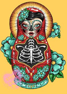 Tara and Farin, remember that time we wanted to get the russian doll tattooed on all of us? Can it look like this? Baha