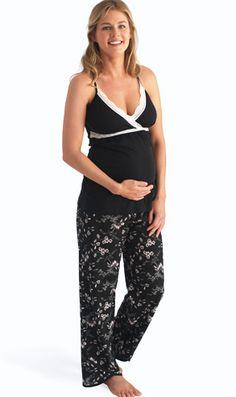 d77a6724d9 Belabumbum Reika Maternity Nursing Pajama Pants And Cami Set Maternity  Pajamas